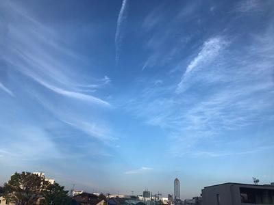 不思議な雲の空
